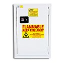 12 Gal Flammable Storage Cabinet - WHITE